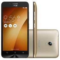 "Smartphone Asus ZenFone Go 16GB Dourado Dual Chip - 3G Câm. 8MP Tela 5"" HD Proc. Quad-Core Android 5.0"