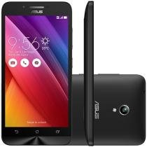 "Smartphone Asus ZenFone Go 16GB Preto Dual Chip 3G - Câm. 8MP Tela 5"" HD Proc. Quad Core Android 5.0"