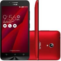"Smartphone Asus ZenFone Go 16GB Vermelho Dual Chip - Câm. 8MP Tela 5"" HD Proc. Quad Core Android 5.0"