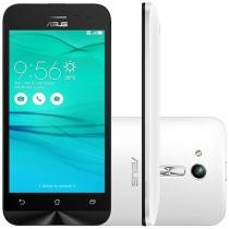 "Smartphone Asus ZenFone Go 8GB Branco Dual Chip - 3G Câm. 5MP Tela 4.5"" Proc. Quad Core"