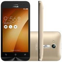 "Smartphone Asus ZenFone Go 8GB Gold Dual Chip - 3G Câm. 5MP Tela 4.5"" Proc. Quad Core"