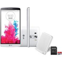"Smartphone LG G3 16GB 4G Câm. 13MP - Tela 5.5"" Proc Quad Core Android 4.4 + Cartão 16GB"