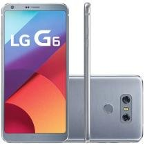 "Smartphone LG G6 32GB Platinum 4G - Câm. 13MP + Selfie 5MP Tela 5.7"" Proc. Quad Core"