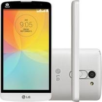 "Smartphone LG L Prime 8GB Dual Chip 3G - C��m. 8MP Tela 5"" Proc. Quad Core TV Digital"