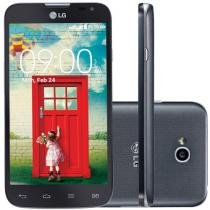 "Smartphone LG L70 Dual Chip 3G - C��m. 8MP Tela 4.5"" Proc. Dual Core Android 4.4"
