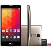 "Smartphone LG Prime Plus TV 8GB Dual Chip 3G - C��m. 8MP Tela 5"" Proc. Quad Core + Cart��o 16GB"