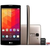"Smartphone LG Prime Plus TV 8GB Dual Chip 3G - C��m. 8MP Tela 5"" Proc. Quad Core + Cart��o 32GB"