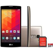"Smartphone LG Prime Plus TV 8GB Dual Chip 3G - C��m. 8MP Tela 5"" Proc. Quad Core + Cart��o 8GB"