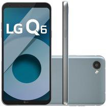 "Smartphone LG Q6 32GB Platinum Dual Chip 4G - Câm. 13MP + Selfie 5MP Tela 5,5"" Proc.Octa Core"