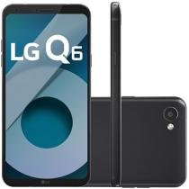 "Smartphone LG Q6 32GB Preto Dual Chip 4G - Câm. 13MP + Selfie 5MP Tela 5,5"" Proc.Octa Core"