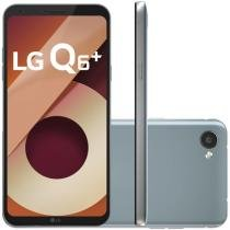 "Smartphone LG Q6 Plus 64GB Platinum Dual Chip 4G - Câm. 13MP + Selfie 5MP Tela 5,5"" Proc.Octa Core"
