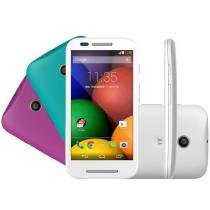 "Smartphone Motorola Moto E DTV Colors Dual Chip 3G - Android 4.4 Câm. 5MP Tela 4.3"" Proc. Dual Core"