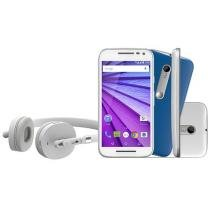 "Smartphone Motorola Moto G Music 3ª Geração 16GB - Dual Chip Câm. 13MP + Selfie 5MP Tela 5"" Quad Core"