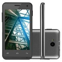 "Smartphone Multilaser MS40 4GB Dual Chip 3G - Câm. 5MP Tela 4"" Proc. Quad Core Android 4.4"