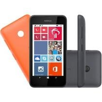 "Smartphone Nokia Lumia 530 Dual Chip 3G - Windows Phone 8.1 Câm 5MP Tela 4"" Proc. Quad Core"