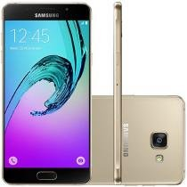 Smartphone Samsung A5 2016 Duos 16GB Dourado - Dual Chip 4G Câm 13MP + Selfie 5MP Proc. Octa Core