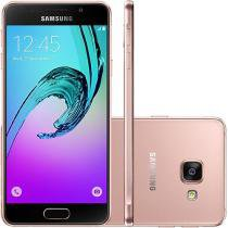 "Smartphone Samsung Galaxy A3 2016 16GB Rosê - Dual Chip 4G Câm. 13MP + Selfie 5MP Tela 4.7"" HD"