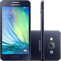 "Smartphone Samsung Galaxy A3 Duos Dual Chip 4G - Android 4.4 Câm. 8MP Tela 4.5"" Proc. Quad Core"