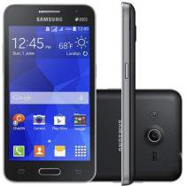 "Smartphone Samsung Galaxy Core 2 Duos Dual Chip 3G - Android 4.4 C��m. 5MP Tela 4.5"" Proc. Quad Core"