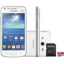 "Smartphone Samsung Galaxy Core Plus Dual Chip 3G - Android 4.4 Câm. 5MP Tela 4.3"" + Cartão 16GB"