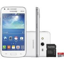 "Smartphone Samsung Galaxy Core Plus Dual Chip 3G - Android 4.4 Câm. 5MP Tela 4.3"" + Cartão 32GB"