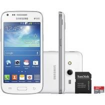 "Smartphone Samsung Galaxy Core Plus Dual Chip 3G - Android 4.4 Câm. 5MP Tela 4.3"" + Cartão 8GB"