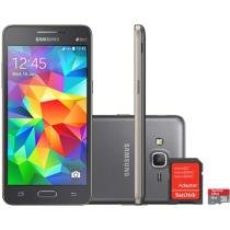 Smartphone Samsung Galaxy Gran Prime Duos 8GB - Dual Chip 3G Câm. 8MP + Selfie 5MP + Cartão 8GB