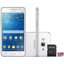 Smartphone Samsung Galaxy Gran Prime Duos TV 8GB - Dual Chip 3G Câm. 8MP + Selfie 5MP + Cartão 32GB