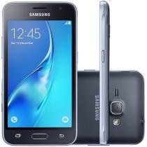 "Smartphone Samsung Galaxy J1 2016 8GB Preto - Dual Chip 3G Câm 5MP Tela 4.5"" Proc. Quad Core"
