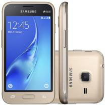 "Smartphone Samsung Galaxy J1 Mini 8GB Dual Chip - 3G Câm. 5MP 4"" Quad-Core Android 5.1 Desbl. Claro"
