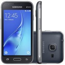 "Smartphone Samsung Galaxy J1 Mini 8GB Preto - Dual Chip 3G Câm 5MP 4"" Proc Quad Core Desbl. Oi"