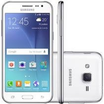 "Smartphone Samsung Galaxy J2 Duos 8GB Dual Chip - 4G Câm. 5MP Tela 4.7"" Proc. Quad Core Desbl. Oi"