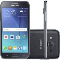 "Smartphone Samsung Galaxy J2 Duos 8GB Preto - Dual Chip 4G Câm. 5MP Tela 4.7"" qHD Proc Quad Core"