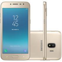 Smartphone Samsung Galaxy J2 Pro 16GB Dourado - Dual Chip 4GB Câm. 8MP + Selfie 5MP Flash 5.5""