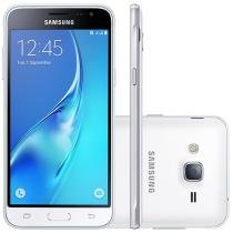 "Smartphone Samsung Galaxy J3 2016 8GB Branco - Dual Chip 4G Câm. 8MP + Selfie 5MP Tela 5"" HD"