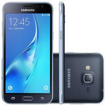 "Smartphone Samsung Galaxy J3 2016 8GB Preto - Dual Chip 4G Câm. 8MP + Selfie 5MP Tela 5"" HD"