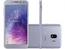 Smartphone Samsung Galaxy J4 32GB Prata - Dual Chip 4G Câm. 13MP + Selfie 5MP Flash