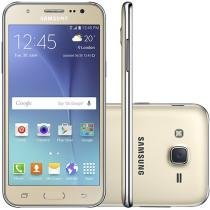 "Smartphone Samsung Galaxy J5 Duos 16GB Dourado - Dual Chip 4G Câm 13MP + Selfie 5MP Flash Tela 5""HD"