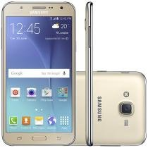 "Smartphone Samsung Galaxy J7 Duos Dual Chip 16GB - 4G Android 5.1 Câm. 13MP Tela 5.5"" Proc. Octa Core"