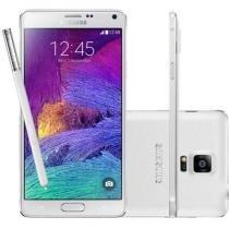 "Smartphone Samsung Galaxy Note 4 32GB 4G - Câm. 16MP Tela 5.7"" Proc. Octa Core Android 4.4"