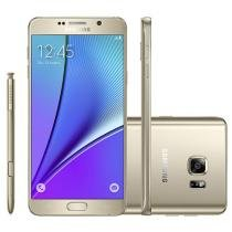 "Smartphone Samsung Galaxy Note 5 32GB 4G - Câm. 16MP + Selfie 5MP Tela 5.7"" Proc. Octa Core"