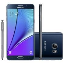 "Smartphone Samsung Galaxy Note 5 32GB Preto 4G - Câm. 16MP + Selfie 5MP Tela 5.7"" Quad HD Octa Core"