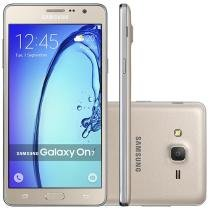 "Smartphone Samsung Galaxy On 7 8GB Dual Chip 4G - Câm. 13MP + Selfie 5MP 5.5"" Quad-Core Android 5.1"