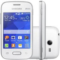 "Smartphone Samsung Galaxy Pocket 2 Duos Dual Chip - 3G Andoid 4.4 Câm. 2MP Tela 3.3"" Proc. Single Core"
