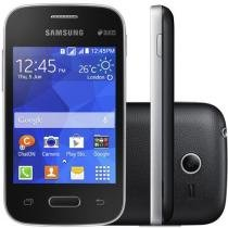 "Smartphone Samsung Galaxy Pocket 2 Duos Dual Chip - 3G C��m. 2MP Tela 3.3"" Single Core Android 4.4"