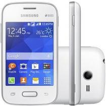 "Smartphone Samsung Galaxy Pocket 2 Duos Dual Chip - 3G Câm. 2MP Tela 3.3"" Single Core Android 4.4"