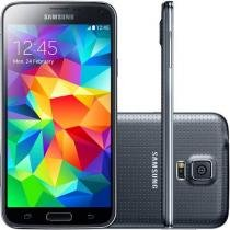 "Smartphone Samsung Galaxy S5 16GB 4G - Câm. 16MP Tela 5.1"" Proc. Quad Core Desbl. Vivo"