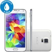 "Smartphone Samsung Galaxy S5 4G Android 4.4 - Câm. 16MP Tela 5.1"" Super Amoled Proc. Quad Core"