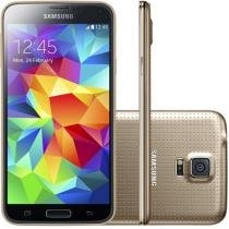 "Smartphone Samsung Galaxy S5 Duos 16GB Dual Chip - 4G Câm. 16MP Tela 5.1"" Proc. Quad Core Android 4.4"
