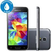 "Smartphone Samsung Galaxy S5 Mini Duos DualChip 3G - Android 4.4 Câm. 8MP Tela 4,5"" Proc. Quad Core"